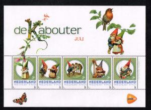 Nederland 2016 persoonlijke postzegels vel De Kabouter Juli