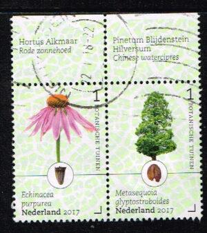 Nederland 2017 Botanische tuinen in Nederland gestempeld NVPH 3525-3526
