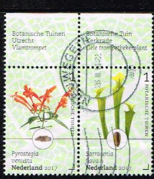 Nederland 2017 Botanische tuinen in Nederland gestempeld NVPH 3527-3528
