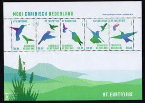Caribisch Nederland 2013 Mooi Caribisch Nederland Vogels St. Eustatius NVPH 47