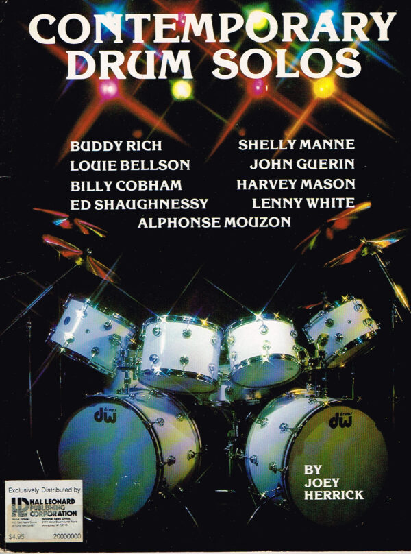 Contemporary Drum Solos by Joey Herrick EAN 9780634013362