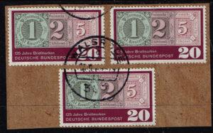Duitsland (BRD) 1965 125 Jahre Briefmarken gestempeld Michel nr 482