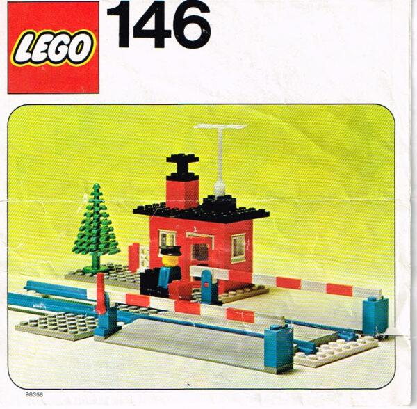 Lego Legoland 146 spoorwegovergang compleet met instructieboekje