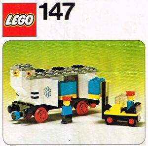 Lego Legoland 147 trein koelwagon met vorkheftruck