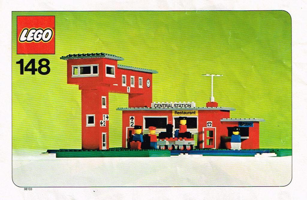 Lego Legoland 148 treinstation compleet met instructieboekje