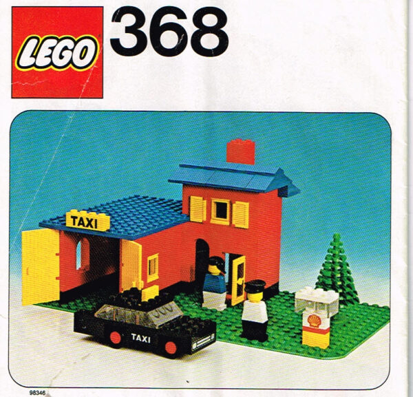 Lego Legoland 368 taxi station compleet met instructieboekje.