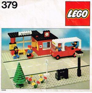 Lego Legoland 379 busstation compleet met instructieboekje.