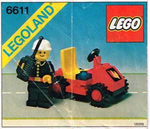 Lego Legoland 6611 Brandweerman met auto compleet met instructieboekje.