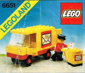 Lego Legoland 6651 postauto uit 1982 met instructieboekje