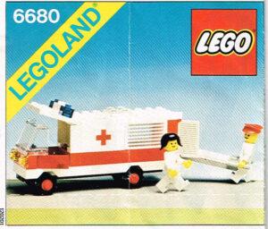 Lego Legoland 6680 Ambulance compleet met instructieboekje.