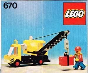 Lego Legoland 670 mobiele kraanwagen