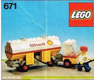 Lego Legoland 671 Shell tankwagen