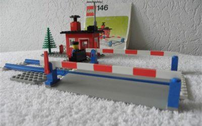 Lego Legoland 146 spoorwegovergang compleet met instructieboekje.