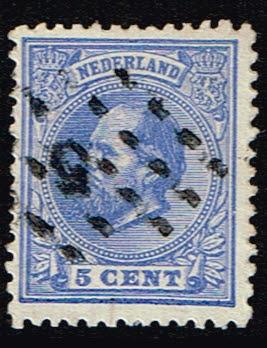 Nederland 1872 Koning Willem III gestempeld NVPH 19