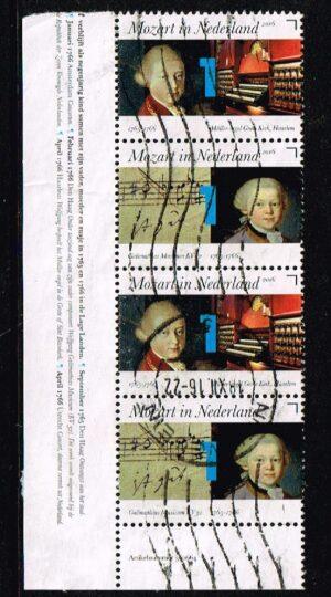 Nederland 2016 Mozart in Nederland gestempeld NVPH 3414-3415