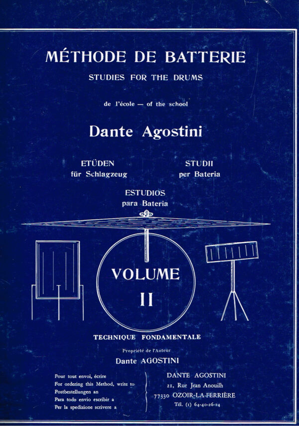 Dante Agostini Methode de Batterie studies for the Drums volume II