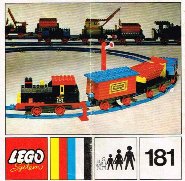 Lego Legoland 181 complete trein set 4.5V motor en instructieboekje