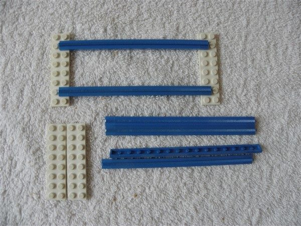 Lego Legoland 3228a 6x rechte rails