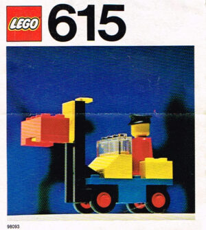 Lego Legoland 615 vorkheftruck set compleet met instructieboekje