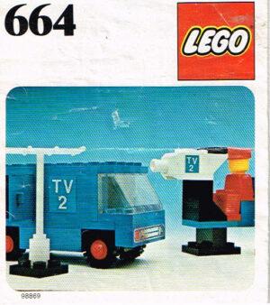 Lego Legoland 664 TV wagen met bemanning