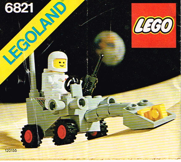 Lego Legoland 6821 Shovel Buggy set compleet met instructieboekje