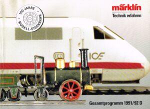 Märklin Katalog 1991/1992 Deutsche Ausgabe EAN 4001883157009