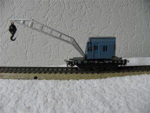 Marklin H0 4611 kraanwagon blauw