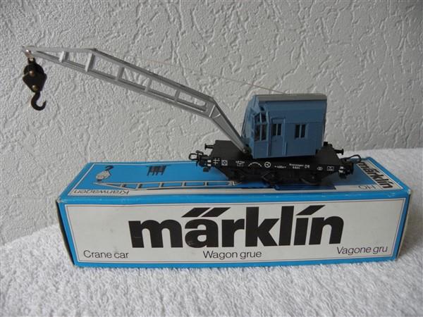 Marklin H0 4611 kraanwagon 4611.5 blauw 315/2 Krupp-Ardelt