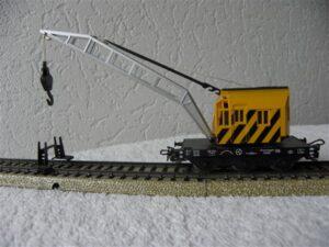 Marklin H0 4671 kraanwagon geel