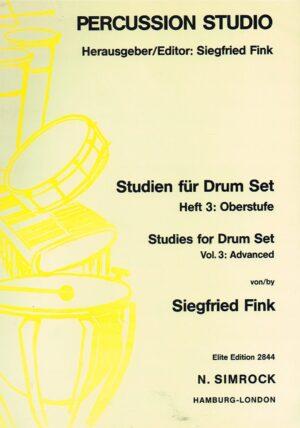 Siegfried Fink Precussion Studio Studien fur Drum Set Heft 3