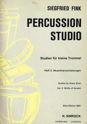 Siegfried Fink Precussion Studio Studien fur Snare Drum Heft 2