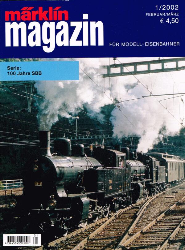MÄRKLIN Magazin - für Modell-Eisenbahner 01-2002 4344564 200008 01