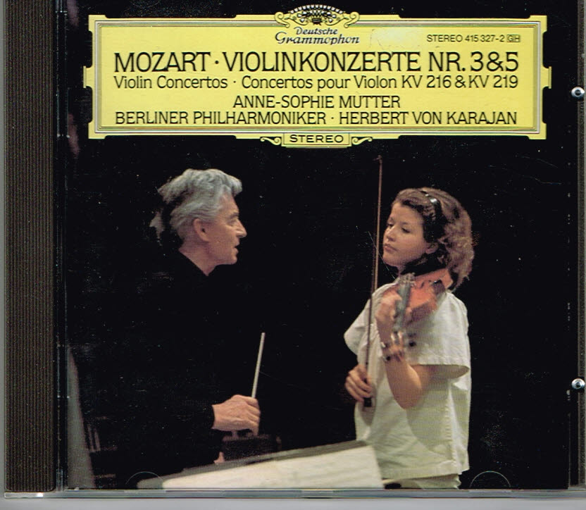 Mozart - Anne-Sophie Mutter Herbert von Karajan Violinkonzerte Nr. 3&5 EAN 028941532725