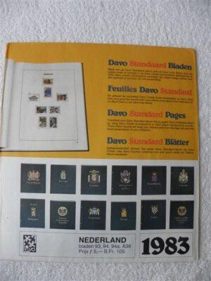 Nederland 1983 Davo supplement jaargang 1983 bladzijdes 93 t/m 94a en A36
