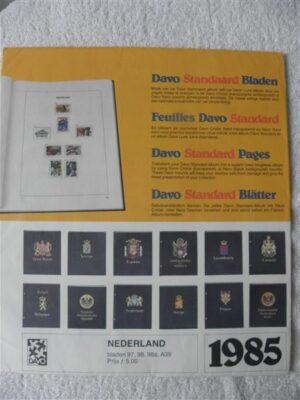 Nederland 1985 Davo supplement jaargang 1985 bladzijdes 97 t/m 98a en A39