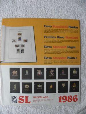 Nederland 1986 Davo supplement jaargang 1986 SL bladzijdes 90-99-99a-100 en A40