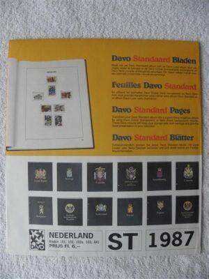 Nederland 1987 Davo supplement jaargang 1987 bladzijdes 101-102-102a-103 en A41