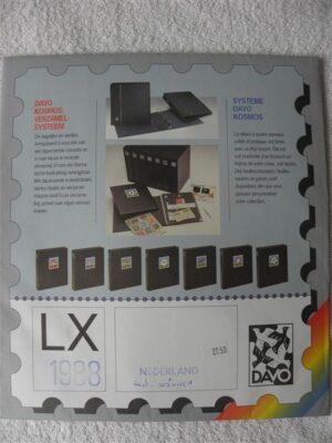 Nederland 1988 Davo supplement jaargang 1988 LX blz 103a-104-104a105-105a en A42-A43