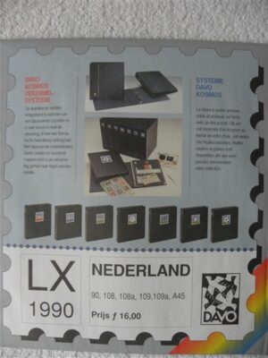 Nederland 1990 Davo supplement jaargang 1990 LX blz 90-108-108a-109-109a en A45