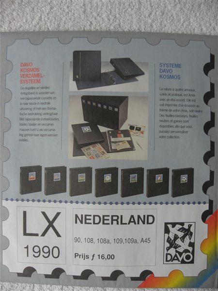 Nederland 1990 Davo supplement jaargang 1990 LX blz 90-108-108a-109-109a en A45