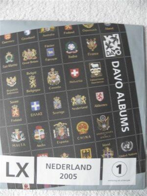 Nederland 2005 Davo supplement jaargang 2005 LX blz 176 t/m 180 en A74 t/m A77