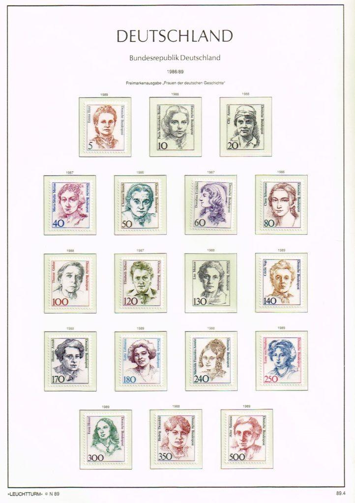 Duitsland (BRD) 1989 diverse zegels jaargang 1989 compleet met Leuchtturm blad SF N89.4