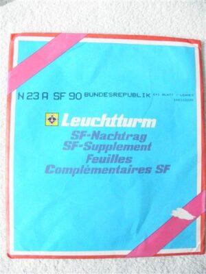 Duitsland (BRD) 1990 Leuchtturm Supplement 1990 met klemstroken. N23A SF90