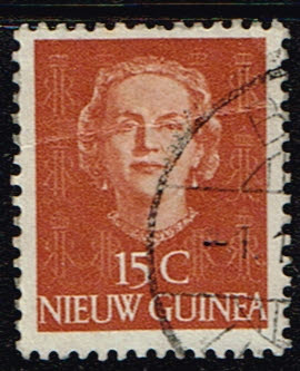 Nederlands Nieuw Guinea 1950-1952 Koningin Juliana 15 cent gestempeld NVPH 10