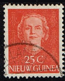 Nederlands Nieuw Guinea 1950-1952 Koningin Juliana 25 cent gestempeld NVPH 12