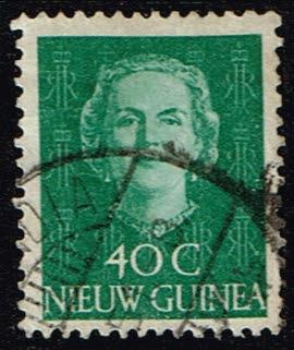 Nederlands Nieuw Guinea 1950-1952 Koningin Juliana 40 cent gestempeld NVPH 14