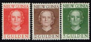 Nederlands Nieuw Guinea 1950-1952 serie Koningin Juliana NVPH 19-21