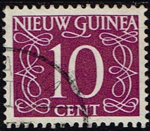 Nederlands Nieuw Guinea 1950 cijfer 10 cent gestempeld NVPH 8