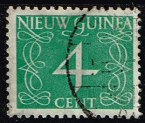 Nederlands Nieuw Guinea 1950 cijfer 4 cent gestempeld NVPH 5