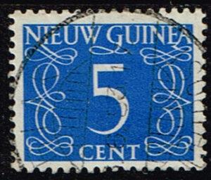 Nederlands Nieuw Guinea 1950 cijfer 5 cent gestempeld NVPH 6